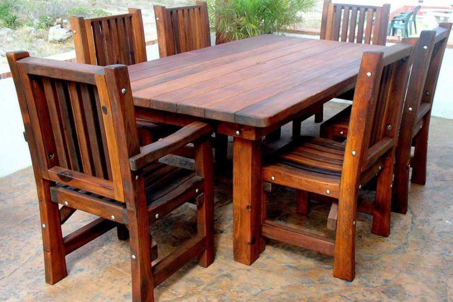 Bentuk Meja Kursi Kayu Untuk Teras Rumah