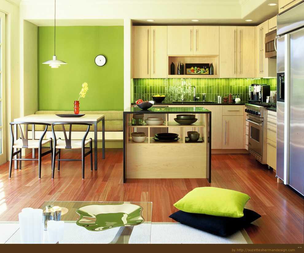 Dapur Warna Hijau Idaman Minimalis