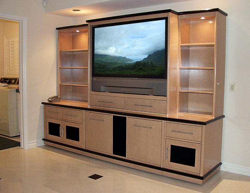 Desain Lemari Rak TV Besar Terbaru