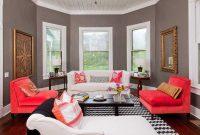 Desain Warna Ruang Tamu Grey Abu-Abu Putih