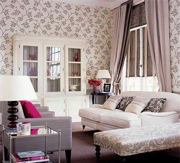 Gorden Ruang Tamu Warna Pink Kombinasi