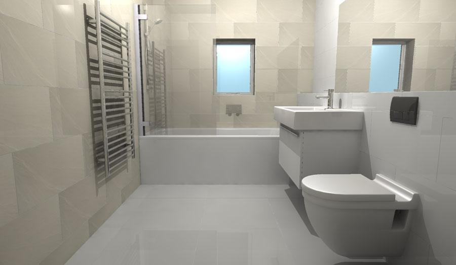 Kamar mandi kecil dengan WC Duduk
