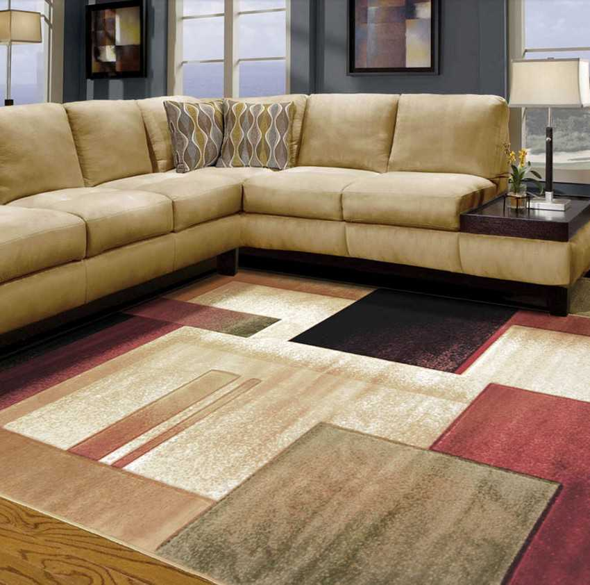 Area Rugs In Living Room With Tan Couch