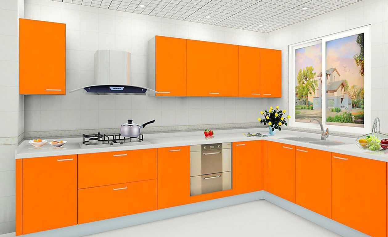 Kitchen Set Dapur Warna Orange