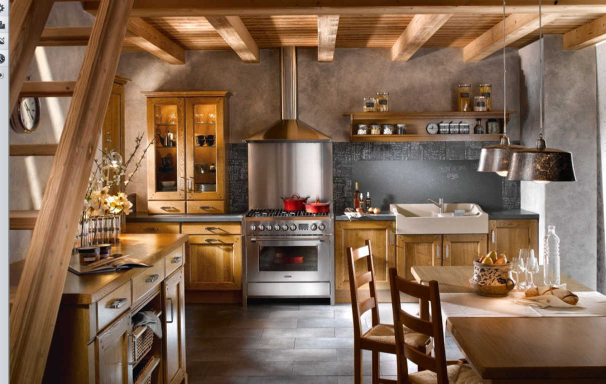 Lemari dapur kecil bawah tangga