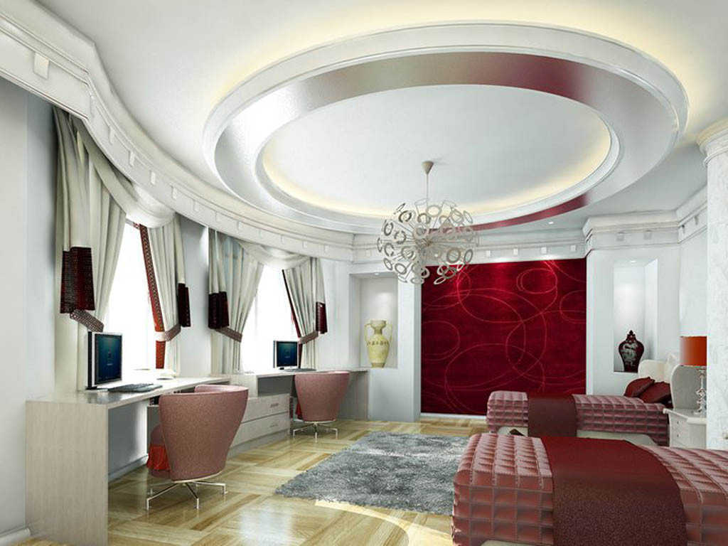 model plafon ruang tamu kayu dan gypsum terbaru desain