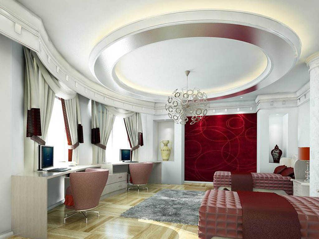 Plafon Gypsum Ruang Tamu Minimalis Modern