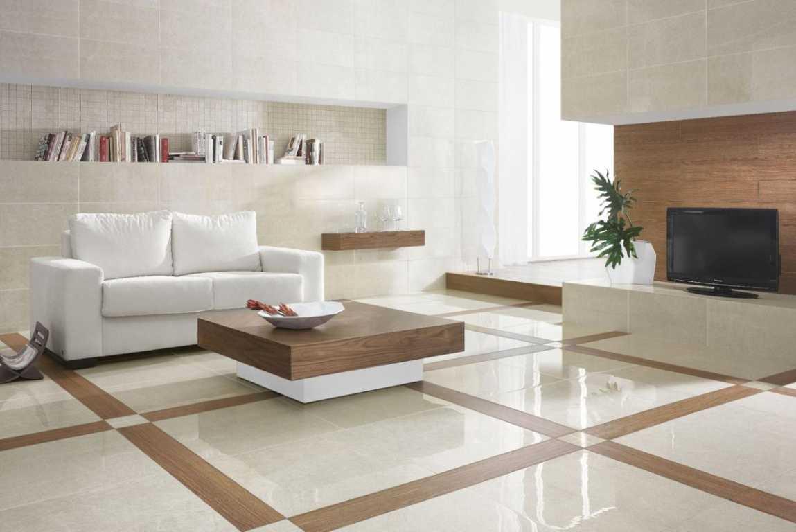 desain keramik lantai ruang tamu rumah minimalis