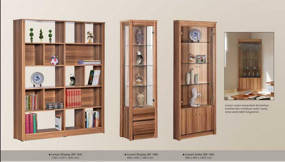 model lemari hias untuk ruang tamu