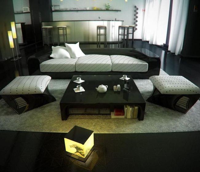 penataan ruang tamu gaya jepang modern