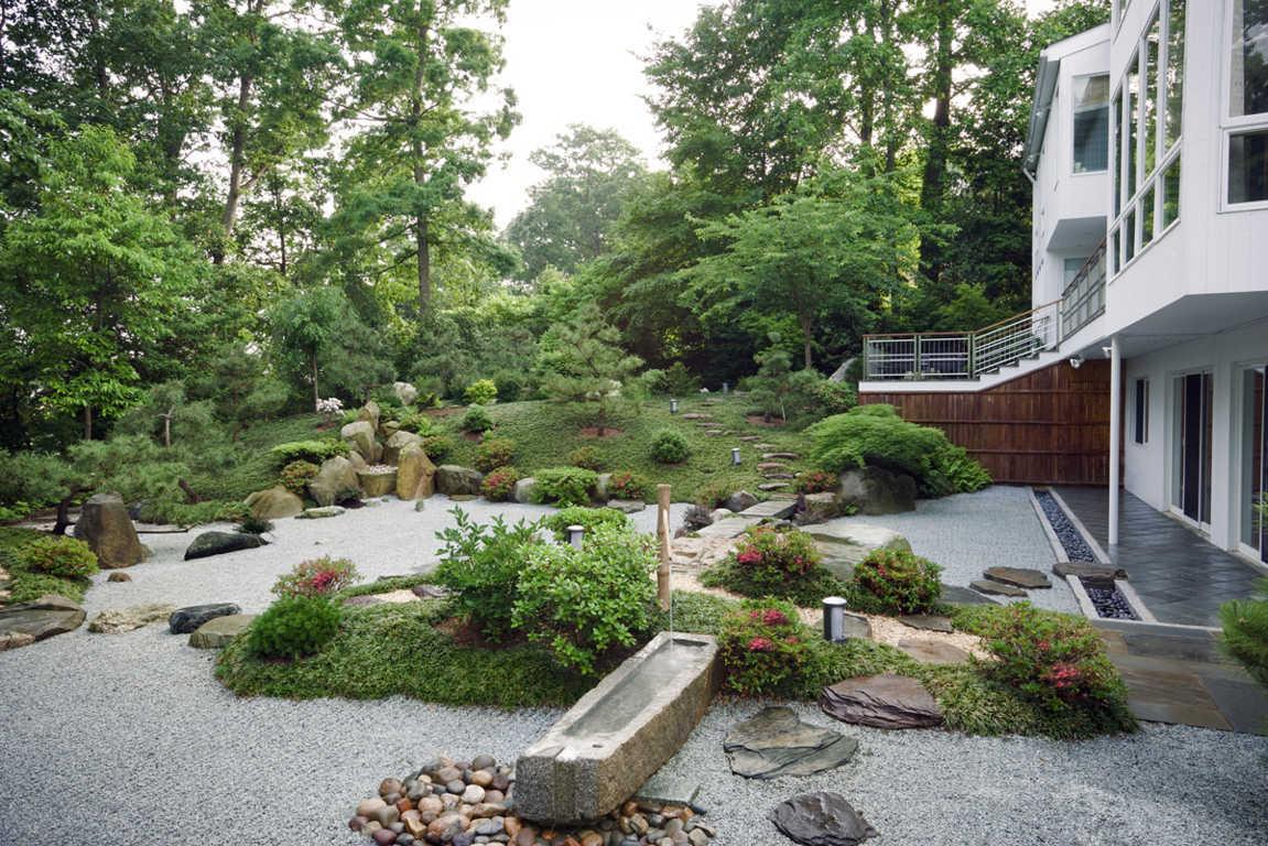 taman minimalis gaya jepang