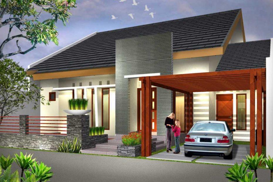 warna cat dinding depan rumah minimalis krem