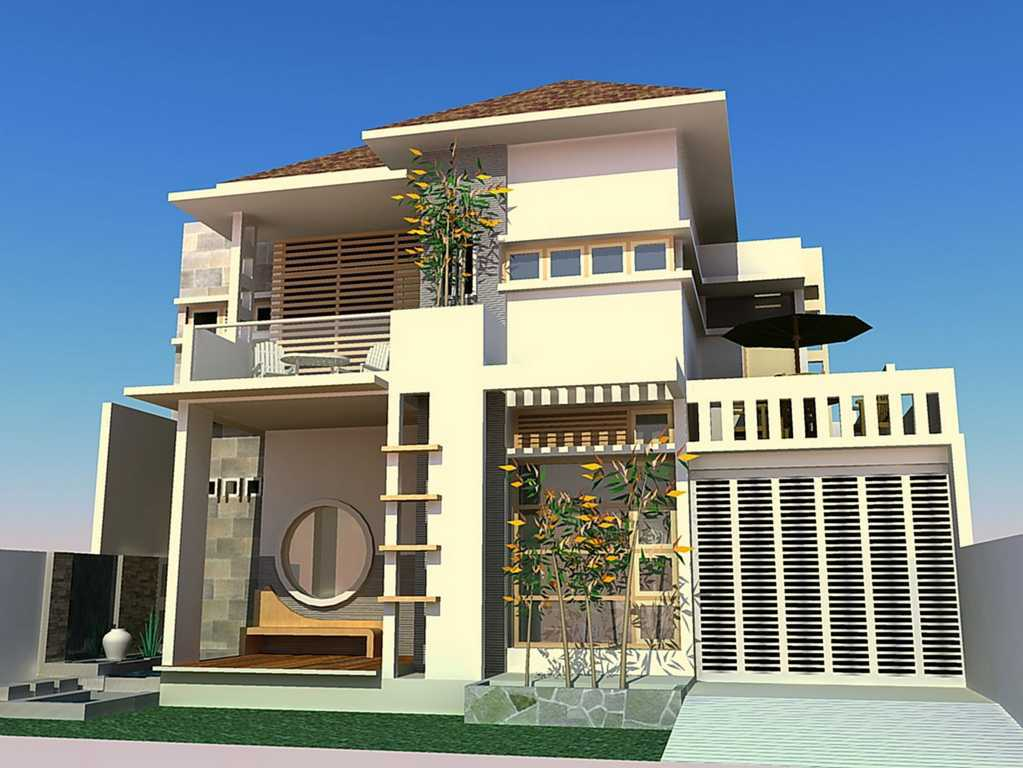 kombinasi warna cat rumah bagian depan cream desain rumah