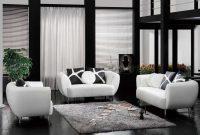 Desain Ruang Tamu Mewah Hitam Putih