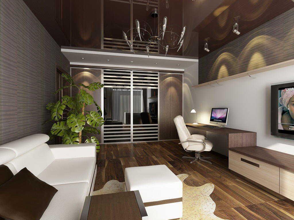 Interior Ruang Tamu Apartment Minimalis