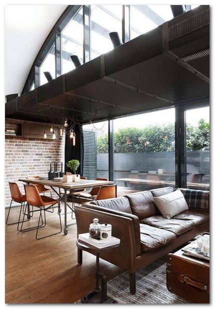 dekorasi living room nuansa gothic modern