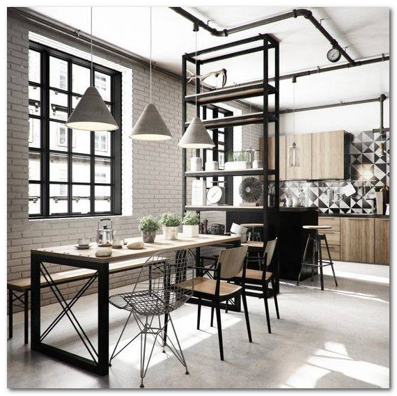 desain dekorasi ruang makan unik bergaya gothic keren