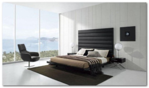 furnitur set kamar tidur bergaya minimalis modern