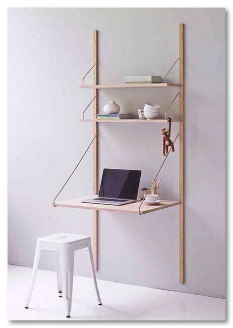 hiasan dinding sekaligus meja komputer yang unik dan keren