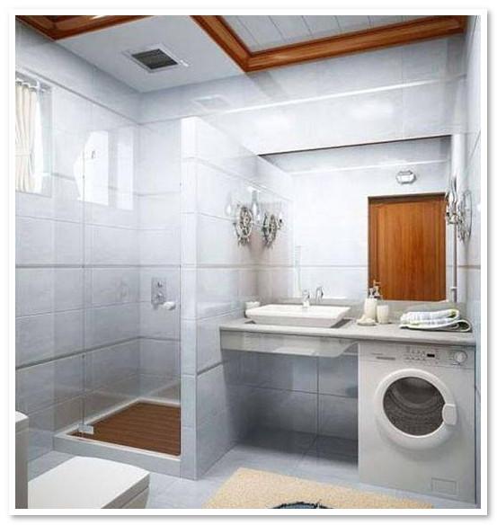 kamar mandi minimalis dengan mesin cuci
