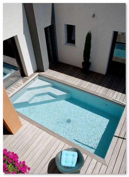 kolam renang mungil belakang rumah