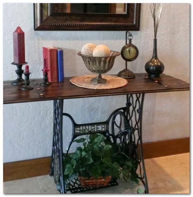meja hias dari singer bekas