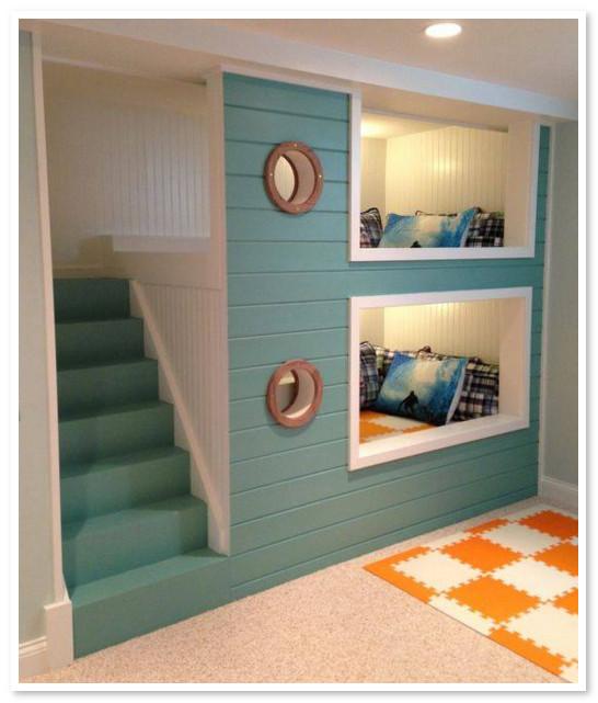 model bunk bed lucu tangga