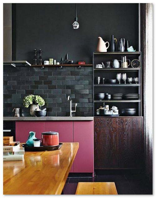 Inspirasi Dapur Cantik Warna Hitam
