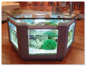 aquarium unik meja tamu