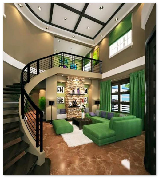 desain rumah warna hijau desain rumah