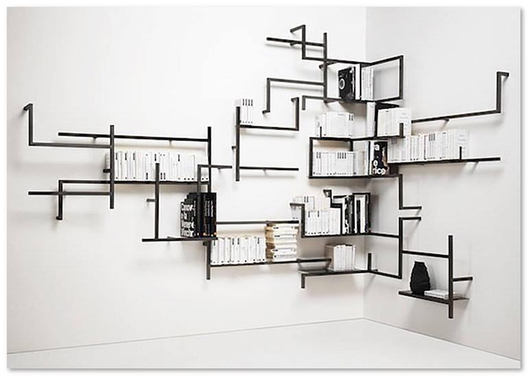 Desain Unik Rak Buku Dinding - Desain Rumah Unik