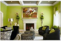 desain ruang tamu istimewa warna hijau