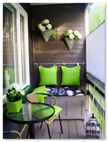 desain teras lantai atas apartemen