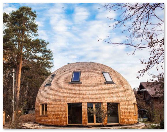 desain unik rumah dome