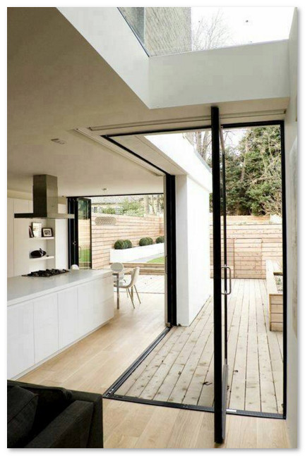 pintu geser unik untuk rumah modern