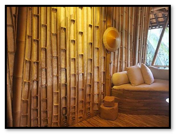 Bambu Pada Desain Interior Dinding