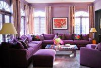 Dekorasi Ruang Tamu Dengan Warna Ungu