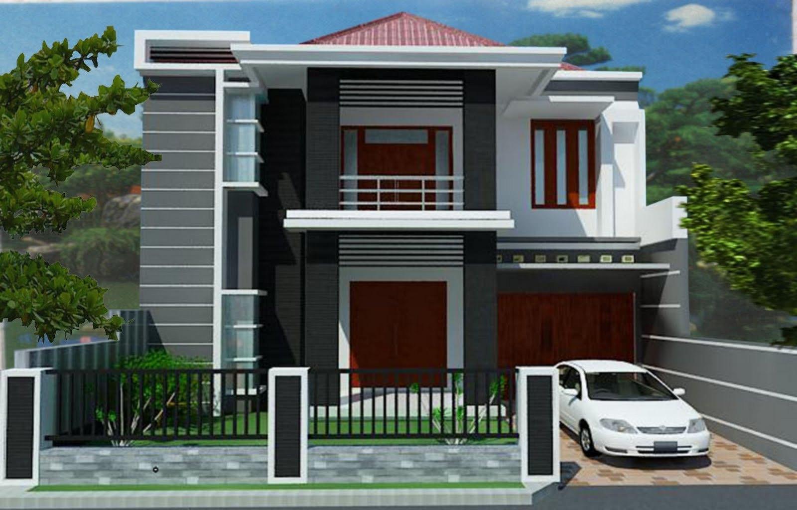 Desain Modern Rumah tipe 45
