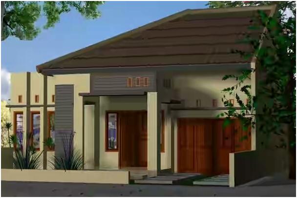 Konsep Teras Rumah Dengan Dua Pilar