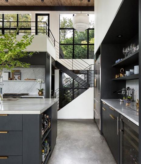 desain mezzanine dapur luar biasa