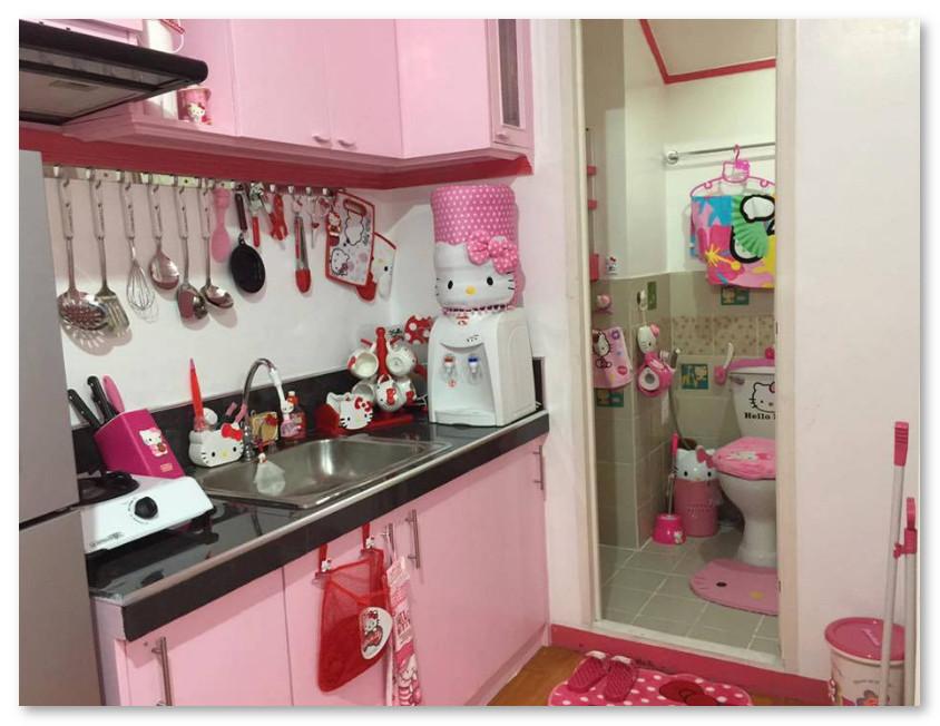 Desain Dapur Hello Kitty
