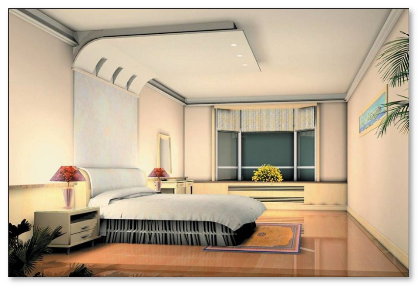 Sketsa penerangan cahaya lampu untuk kamar tidur