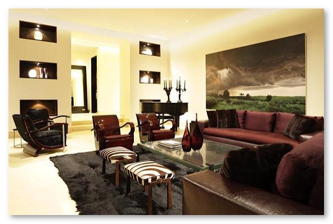 Warna Interior ruang tamu krem