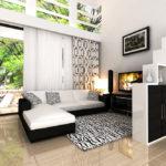 contoh ruang tamu sehat hijau asri