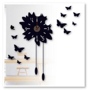 hiasan dinding kupu kupu hitam 3D