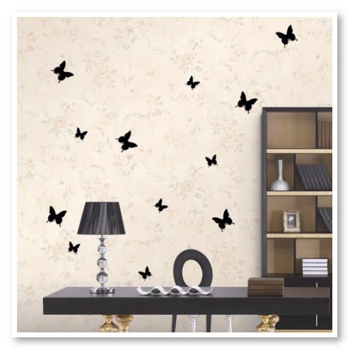 hiasan dinding kupu kupu hitam