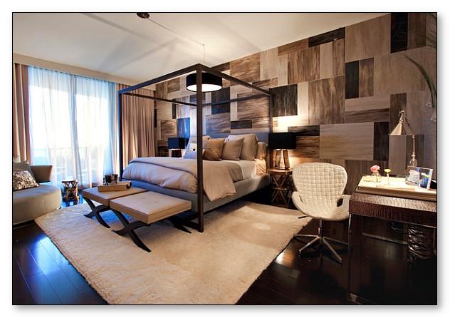 Contoh Aksen dinding di kamar tidur