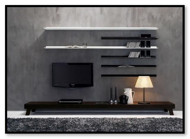 desain futuristik rak tv meja tv modern