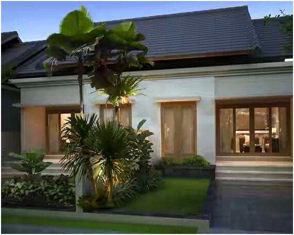 desain taman rumah minimalis tipe 36