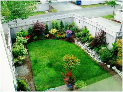 gambar pekarangan taman rumah yang indah terbaru